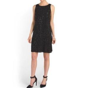 DVF Beaded-Front Sleeveless Silk Shift Dress